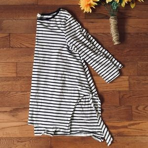 Umgee Navy Striped Tunic